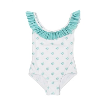 Perle D' Azur Mint One Piece Ruffle