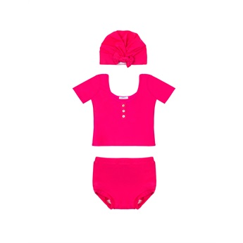 Baby Lola Swim Set Fuschia