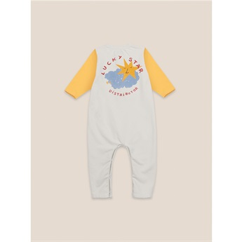 Baby Lucky Star Patch Fleece Overall