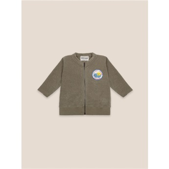 Baby Lucky Star Patch Zipped Sweatshirt