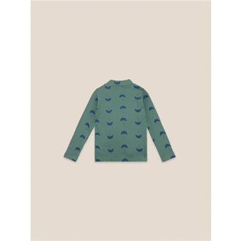 Umbrella All Over Turtle Neck T-Shirt