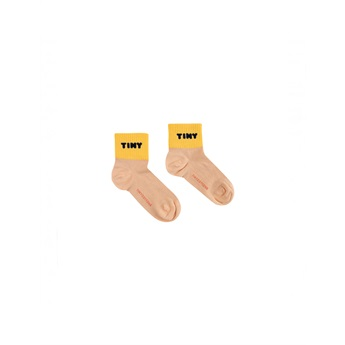 Tiny Quarter Socks Light Nude / Yellow