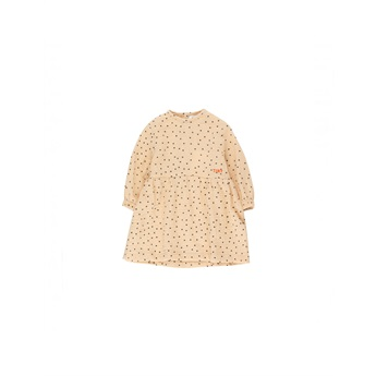 Baby Tiny Dots Dress Cappuccino Navy