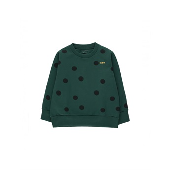 Big Dots Sweatshirt Dark Green / Black