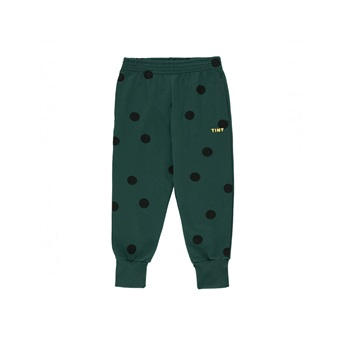 Big Dots Sweatpants Dark Green / Black
