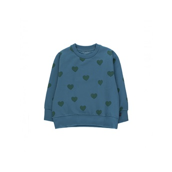 Big Hearts Sweatshirt Blue / Dark Green