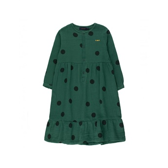 Big Dots Dress Dark Green / Black