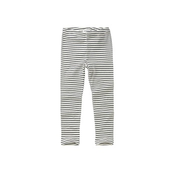 Rib Leggings White / Black