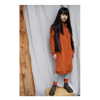 Hoodie Sweater Dress Dark Ginger