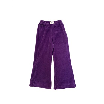 Flared Pants Purple Velvet
