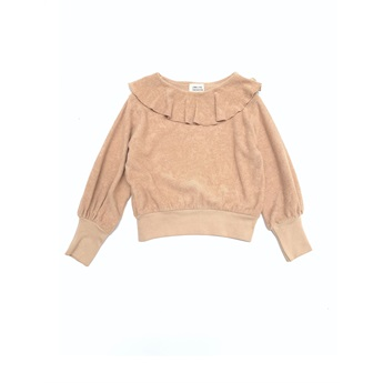Volant Terry Sweater Rose Beige