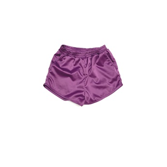 Satin Shorts Purple