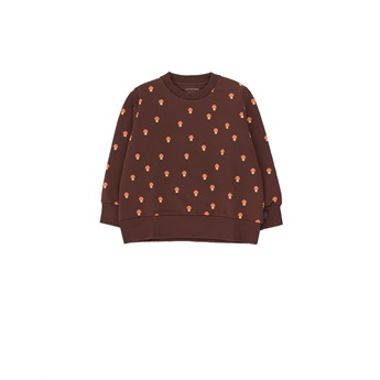 Mushrooms Sweatshirt Ultra Brown / Red