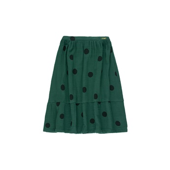 Big Dots Long Skirt Dark Green / Black