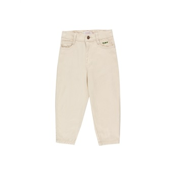 Solid Baggy Pants Cream
