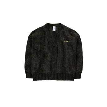Tiny Shiny Cardigan Black