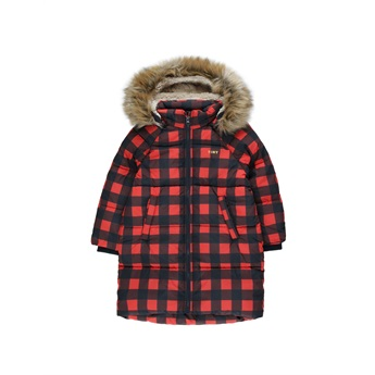 Check Padded Jacket Navy / Red