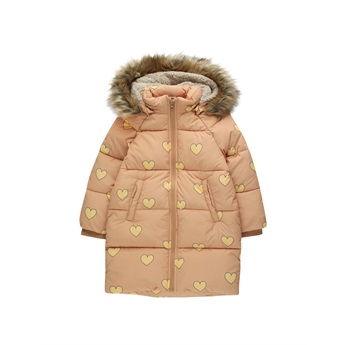 Hearts Padded Jacket Camel / Yellow