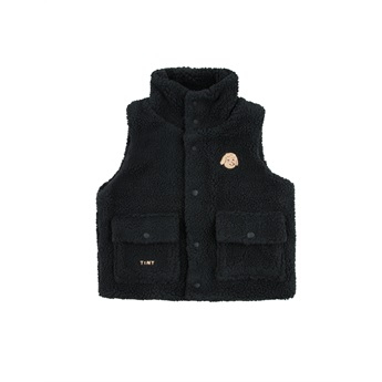 Tiny Dog Sherpa Vest Black