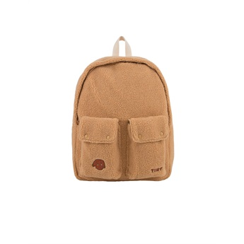 Tiny Dog Big Sherpa Backpack Camel