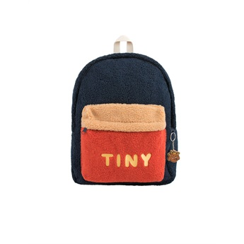 Tiny Big Color Block Backpack Navy