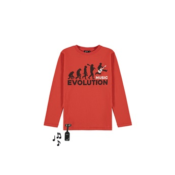 Music Evolution Tee With Sound