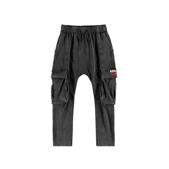 Washed Cargo Pants Black