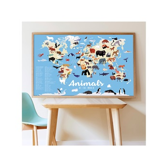Animals Of The World - Giant Poster & 67 Stickers