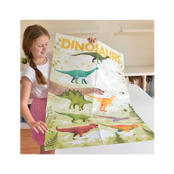 Dinosaurs - Giant Poster & 32 Stickers