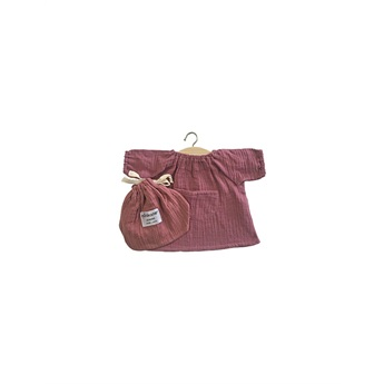 Robe Jeanne Double Gaze Marsala