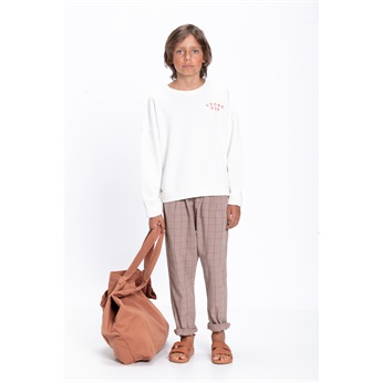 Unisex Trousers Taupe & Garnet