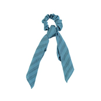 Elastic Hair Band Blue Stripes
