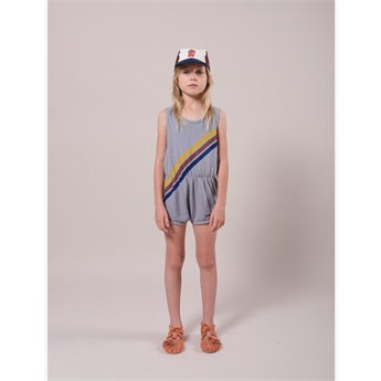 Crosswise Stripes Fleece Playsuit