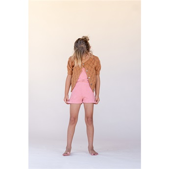 Terry Romper Rose