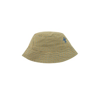 Baby Check Bucket Hat Yellow / Iris Blue