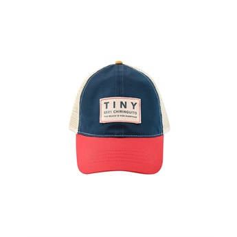 Baby Color Block Tiny Cap Ink Blue / Red