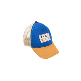 Baby Color Block Tiny Cap Iris Blue / Honey