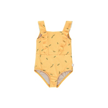 Twills Frills Swimsuit Yellow/Green