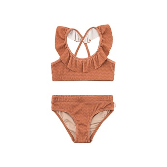 Waves Frills Swimset Cinnamon