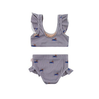 Doggy Paddle Swim Set Grey/Iris Blue